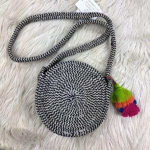 Paper Source Woven Circle Crossbody Bag